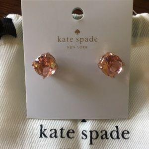 NWT Kate Spade Light Peach Gum Drop Post Earrings
